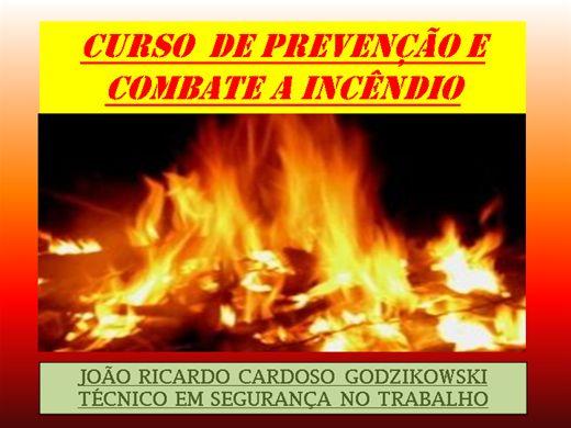 Curso Online de CURSO DE PREVENÇÃO E COMBATE A INCÊNDIO