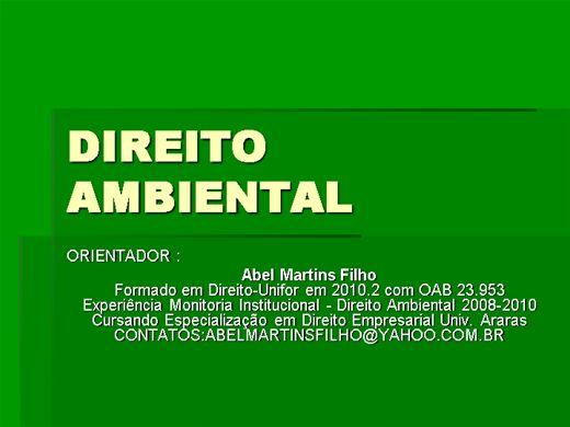 Curso Online de Direito Ambiental Dirigido Vol.1:Estudo de Impacto ambiental e as leis dos crims