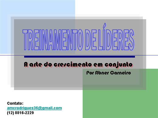 Curso Online de TREINAMENTO DE LÍDERES