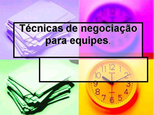 Curso Online de Técnicas de Negociação para Equipes