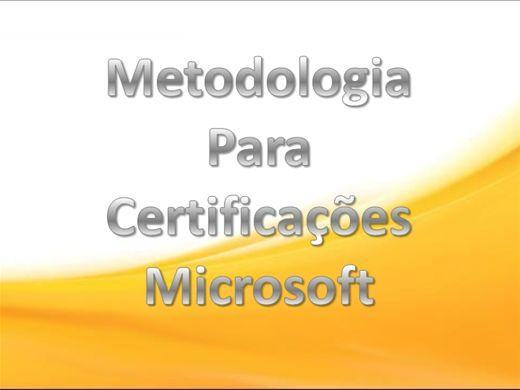 Curso Online de Metodologia Para Certificações Microsoft