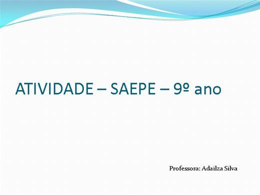 Curso Online de Saepe - 9º ano
