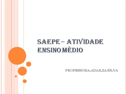 Curso Online de Saepe -Ensino Médio