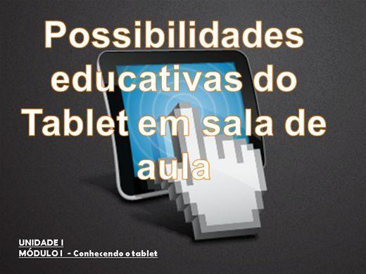 Curso Online de Curso Possibilidades Educativas do Tablet em Sala de Aula