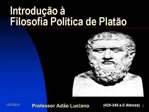 Curso Online de Introdução à Filosofia Politica de Platão