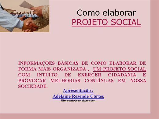 Curso Online de Como elaborar um Projeto Social