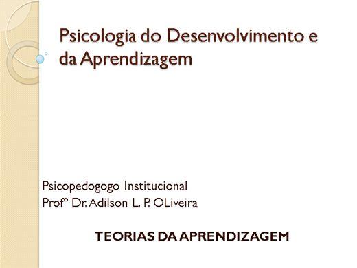 Curso Online de Psicologia do desenvolvimento da aprendizagem