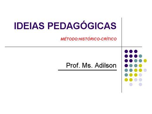 Curso Online de Ideias pedagógicas- Filosofia Histórica da Educação