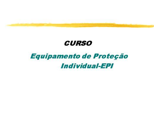 456df3a972435 Curso Online de USO DO EQUIPAMENTO DE PROTEÇÃO INDIVIDUAL- (E.P.I )