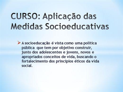 Curso Online de Aplicação das Medidas Socioeducativas