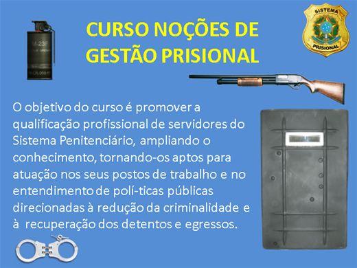 Curso Online de NOÇÕES DE GESTÃO PRISIONAL