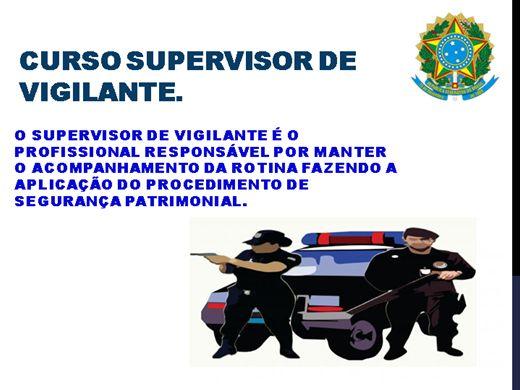Curso Online de SUPERVISOR DE VIGILANTE