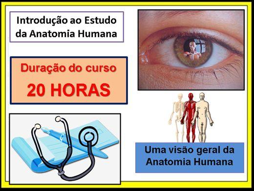 Curso Online de Introdução ao Estudo da Anatomia Humana
