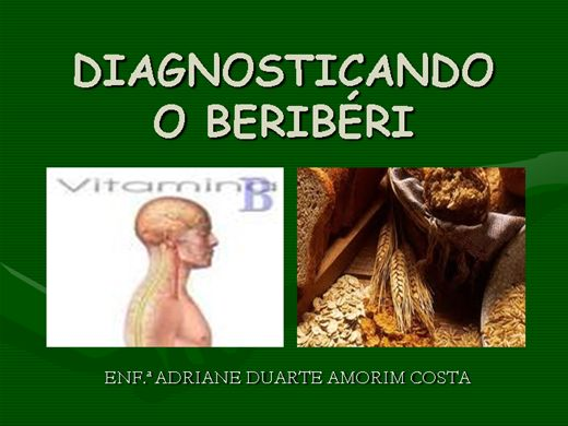 Curso Online de Diagnosticando o Beribéri