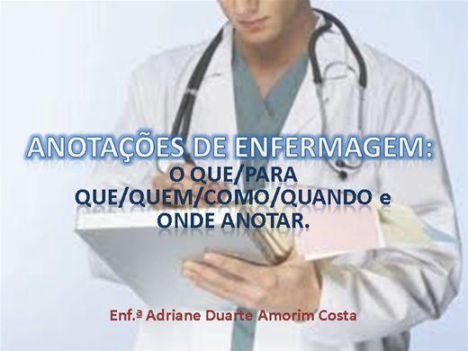 Curso Online de Anotações de Enfermagem - Assistência Integrada