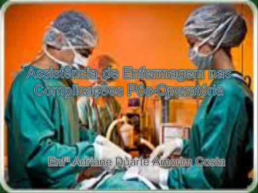Curso Online de Assistência de Enfermagem nas Complicações Pós-Operatória