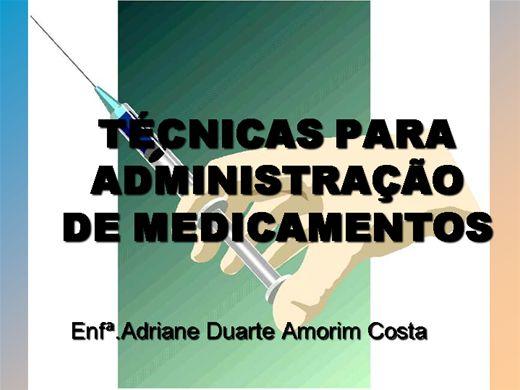 Curso Online de Técnicas para Administração de Medicamentos