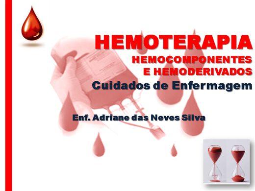 Curso Online de Enfermagem em Hemoterapia
