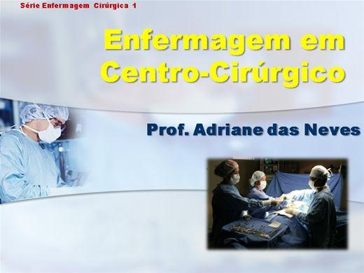Curso Online de A Enfermagem no Centro Cirúrgico