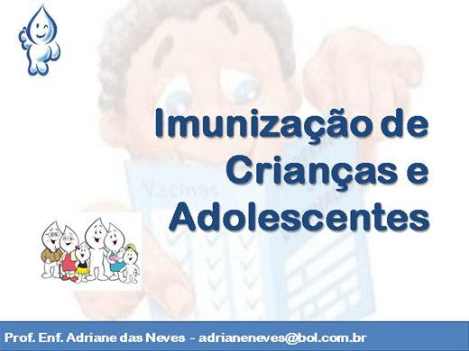 Curso Online de Imunização de Crianças e Adolescentes
