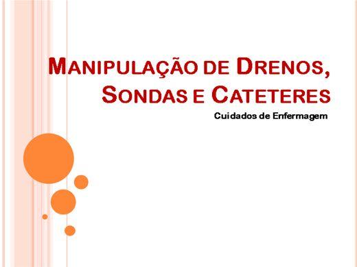 Curso Online de Manipulação de Drenos, Sondas e Cateteres