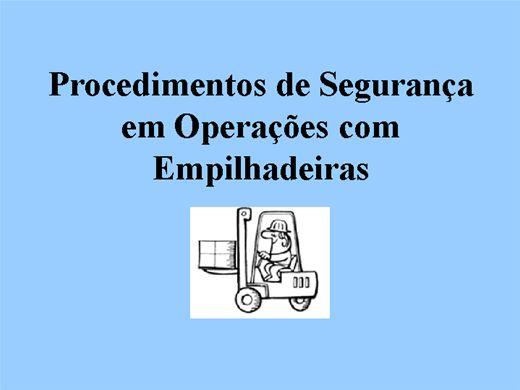 Curso Online de PROCEDIMENTOS PARA OPERAÇÃO DE EMPILHADEIRA