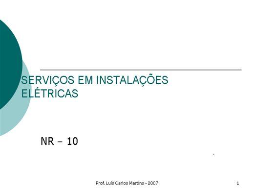 Curso Online de NOÇÕES BÁSICAS DE NR 10 - SERVIÇOS EM ELETRICIDADE