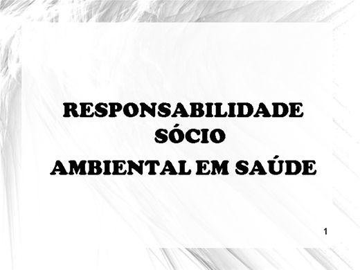 Curso Online de MODELO SOCIO AMBIENTAL DO PGRSS
