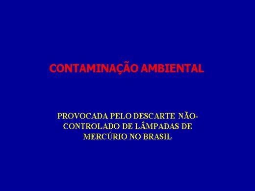 Curso Online de CONTAMINAÇÃO AMBIENTAL - LAMPADA FLUORECENTE