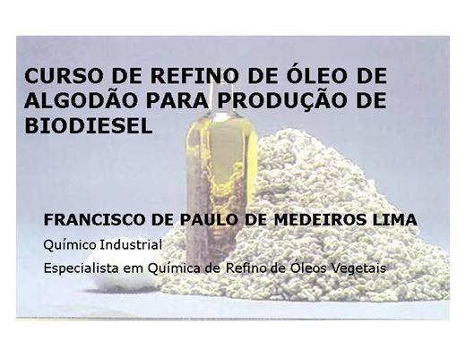 Curso Online de Curso de Refino de Óleo de Algodão para Produção de Biodiesel