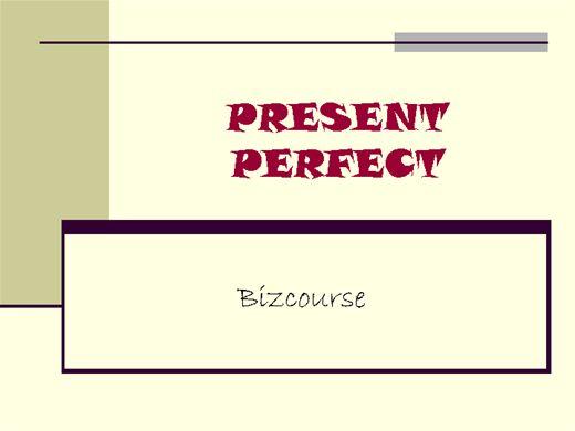 Curso Online de PRESENT PERFECT