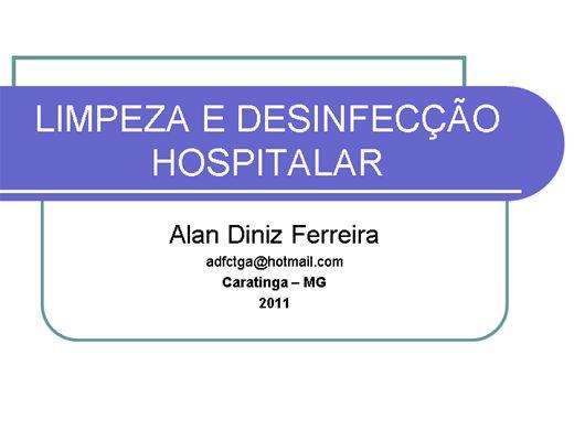 Curso Online de LIMPEZA E DESINFECÇÃO HOSPITALAR E PREPARO DA UNIDADE DO PACIENTE