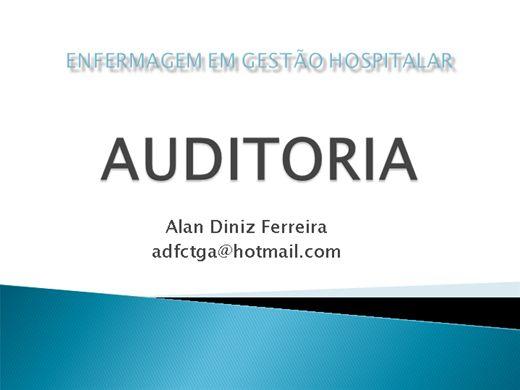 Curso Online de Auditoria para o Enfermeiro