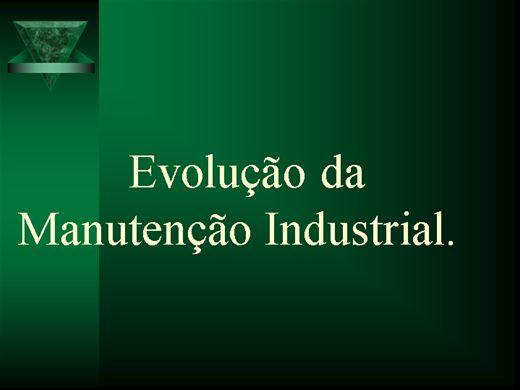 Curso Online de Evolução da Manutenção Industrial.