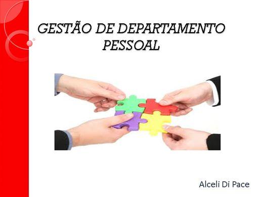 Curso Online de GESTÃO DE DEPARTAMENTO PESSOAL