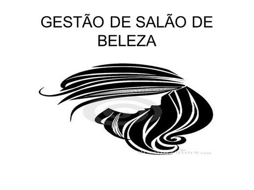 Curso Online de GESTÃO DE SALÃO DE BELEZA
