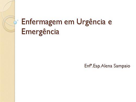 Curso Online de Enfermagem em Urgência e Emergência