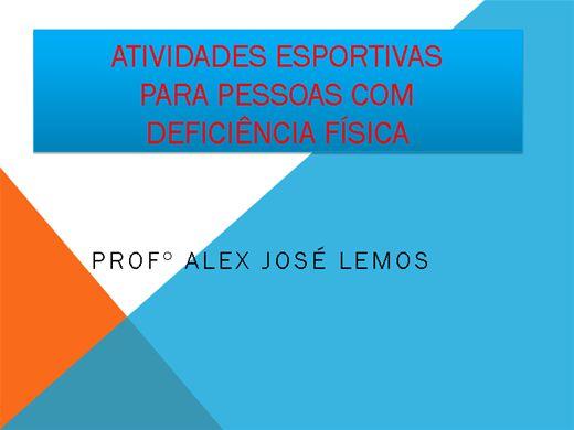 Curso Online de ATIVIDADES ESPORTIVAS PARA PESSOAS COM DEFICIÊNCIAS FÍSICAS