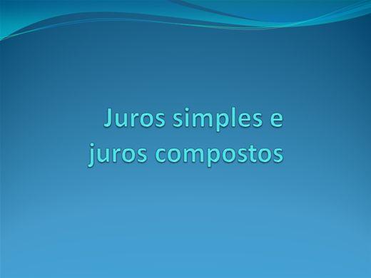 Curso Online de Juros simples e Juros Compostos
