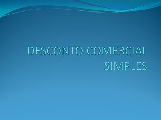 Curso Online de Desconto comercial simples