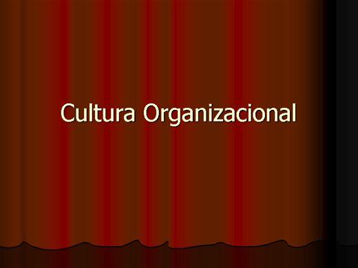 Curso Online de Cultura Organizacional