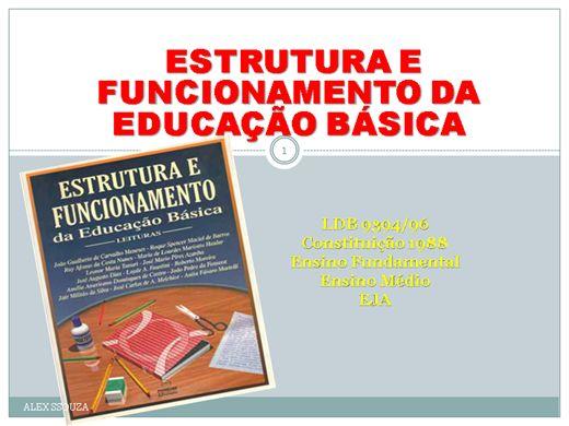 Curso Online de  ESTRUTURA E FUNCIONAMENTO DA EDUCAÇÃO BÁSICA .