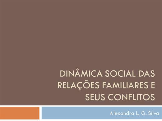Curso Online de DINÂMICA SOCIAL DAS RELAÇÕES FAMILIARES