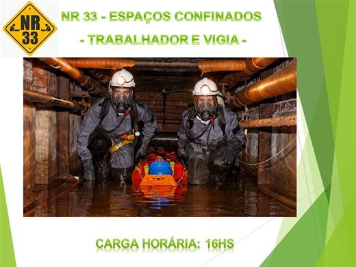 Curso Online de NR33 ESPAÇOS CONFINADOS - TRABALHADOR E VIGIA