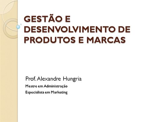 Curso Online de GESTÃO DE PRODUTOS E MARCAS