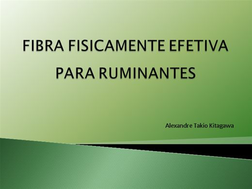 Curso Online de FIBRA FISICAMENTE EFETIVA  PARA RUMINANTES