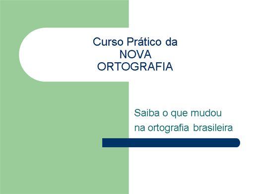 Curso Online de Prático da Nova Ortografia