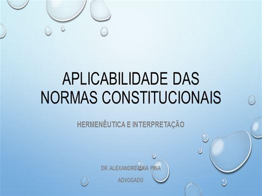 Curso Online de Aplicabilidade das normas constitucionais; Hermenêutica e Imterpretação