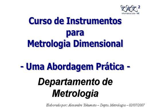 Curso Online de Metrologia Básica