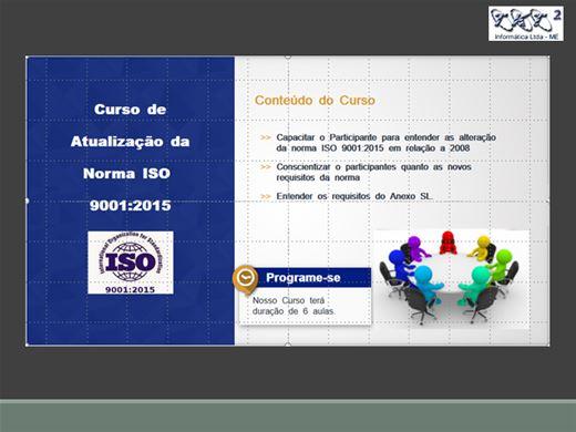 Curso Online de Atualização da Norma ISO 9001:2015